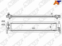 Радиатор интеркулера AUDI A3/S3 12-/SKODA OCTAVIA 13-/VOLKSWAGEN GOLF 12-