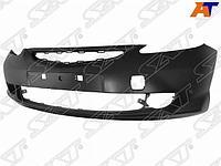 Бампер HONDA FIT 03-07 5D с отверстиями под туманки