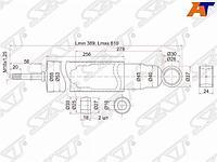 Амортизатор передний MMC CANTER FE2#/FE43#/FE44#/FE46#/FE425 80- рессоры LH=RH