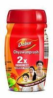 Чаванпраш 1кг Двойной иммунитет Chyawanprash 1kg Dabur Double Immunity