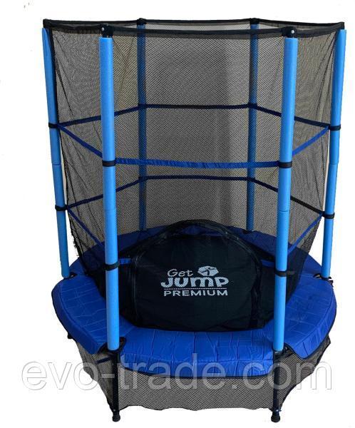 Детский батут Get Jump Blue 140 с защитной сеткой
