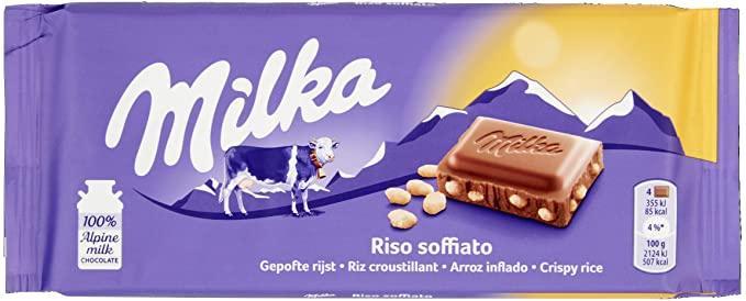 Milka milka riso soffiato (100 грамм) (20 шт в упаковке)