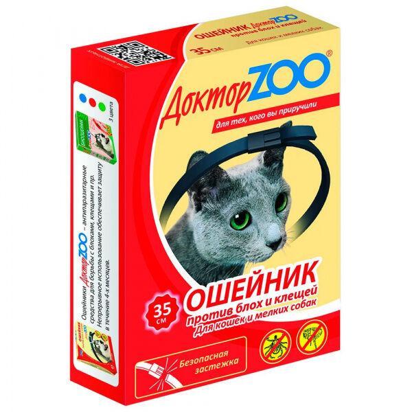 Доктор ZOO Ошейник против блох и клещей для кошек и собак