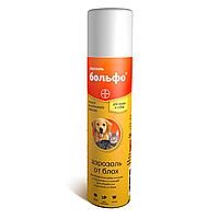 BOLFO, Больф, аэрозоль, средство против блох, вшей, власоедов и иксодовых клещей. Флакон 250 мл.
