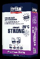 Клей для кладки газо и пеноблоков STRONG зимний