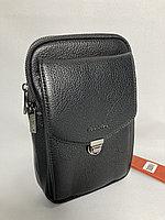 Мужская нагрудная сумка-кобура через плечо. Высота 23 см, ширина 14 см, глубина 4 см., фото 1