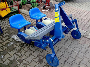 Машина рассадопосадочная польская двухрядная S237 Agro-Max, фото 2