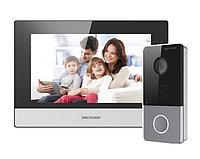 Домофон Hikvision DS-KIS603-P (серебристый)