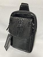 Мужская нагрудная сумка-кобура. Высота 23 см, ширина 15 см, глубина 4 см., фото 1
