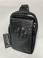 Нагрудная сумка-кобура для мужчин. Высота 23 см, ширина 15 см, глубина 4 см., фото 1