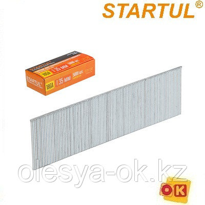 Гвозди тип 18GA/300 25мм (5000шт) сечение 1.25х1.0 мм STARTUL PROFI (ST4515-25), фото 2