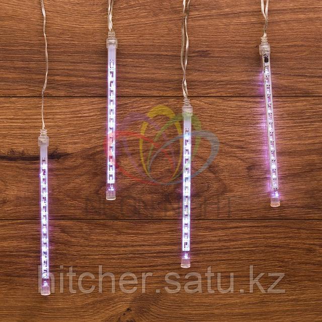 """Светодиодная LED гирлянда """"Тающие сосульки"""" - 4 шт по 20 см, белый цвет свечения, динамический режим свечения (эффект стекающей капли)"""