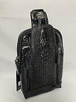 Мужская нагрудная сумка-кобура. Высота 23 см, ширина 14 см, глубина 5 см., фото 1
