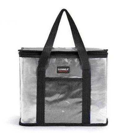 Сумка-термос на молнии с наружным карманом SANNE 8635 [26 литров] (Черный), фото 2