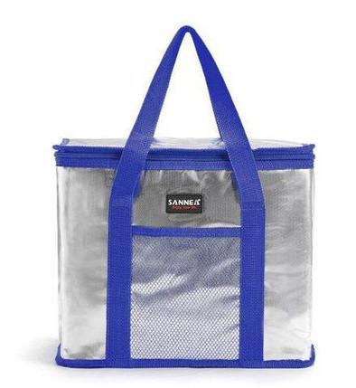Сумка-термос на молнии с наружным карманом SANNE 8635 [26 литров] (Синий), фото 2