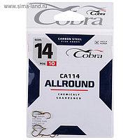 Крючки Cobra ALLROUND серия CA114 №14, 10 шт.