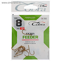 Крючки Cobra FEEDER CF201, №8, 10 шт.