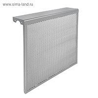 """Экран на чугунный радиатор """"Лидер"""", 590х610х150 мм, 6 секций, металлический, цвет металлик 48"""