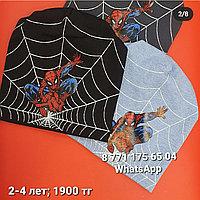 Шапки человек паук детские мальчикам на весну