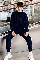 Мужской осенний трикотажный синий спортивный большого размера спортивный костюм GO M3008/20-04.176-182 44р.