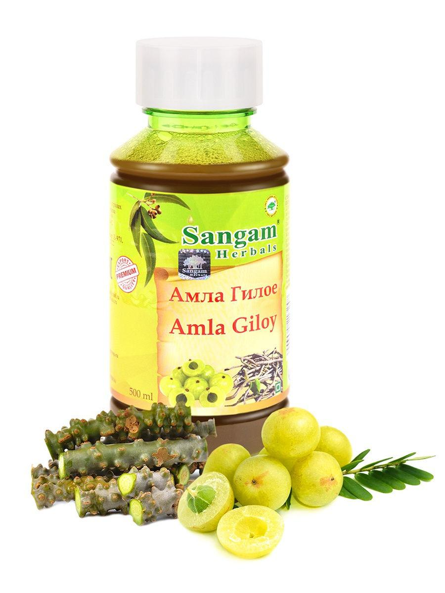 Сок Амла Гилое, 500 мл, Sangam Herbals