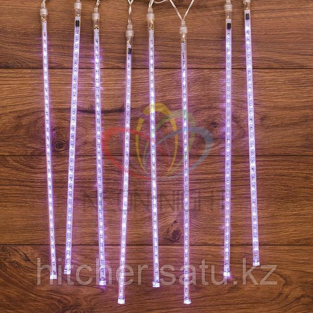 """Светодиодная LED гирлянда """"Тающие сосульки"""" - 8шт по 50 см, белый цвет свечения, динамический режим свечения (эффект стекающей капли)."""
