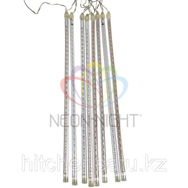 """Светодиодная LED гирлянда """"Тающие сосульки"""" - 8шт по 50 см, теплый-белый цвет свечения, динамический режим свечения (эффект стекающей капли)."""