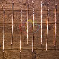 """Светодиодная гирлянда """"Тающие сосульки"""" - 8 шт по 50 см, теплый-белый свет, эффект стекающей капли, фото 1"""
