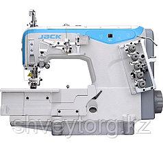 Плоскошовная промышленная машина  JACK JK-W4-D-05CBX*356 для втачивания резинки