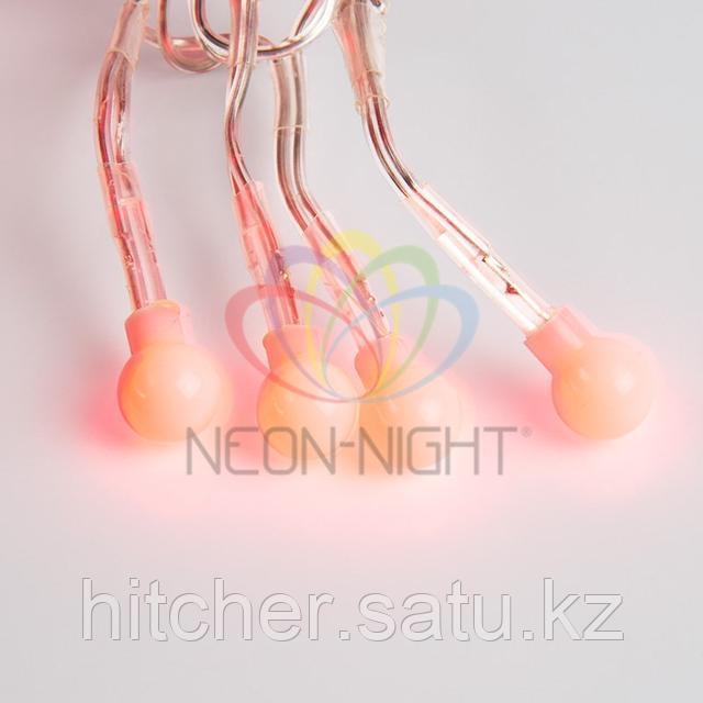 """Гирлянда """"Мишура"""" - 3 метра, 288 шариков диаметром 1 см, красный свет, свечение с динамикой"""