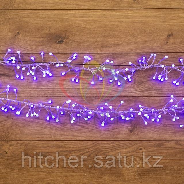 """Гирлянда """"Мишура"""" - 3 метра, 288 шариков диаметром 1 см, синий свет, свечение с динамикой"""