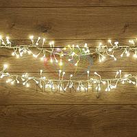 """Гирлянда """"Мишура"""" - 6 метров, 576 шариков диаметром 1 см, белый свет, свечение с динамикой"""