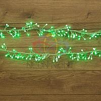 """Гирлянда """"Мишура"""" - 6 метров, 576 шариков диаметром 1 см, зеленый свет, свечение с динамикой"""