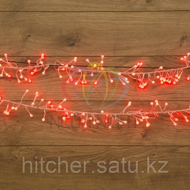 """Гирлянда """"Мишура"""" - 6метров, 576шариков диаметром 1 см, красный свет, свечение с динамикой."""