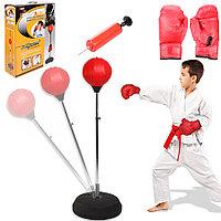 Чемпионский набор детский тренажер для бокса груша и перчатки 95 - 110 см GF-00388-K
