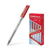 Ручка шариковая ErichKrause® ULTRA-10, цвет чернил красный (в коробке по 12 шт.)