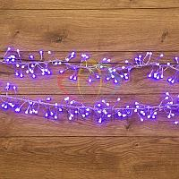 """Гирлянда """"Мишура"""" - 6 метров, 576 шариков диаметром 1 см, синий свет, свечение с динамикой"""