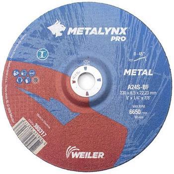 Круг шлифовальный Metal 230 х 6,5 х 22,23 Metalynx PRO A30S-BF (Weiler Abrasives, Slovenija)