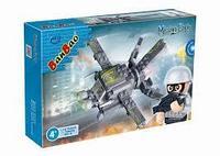 Конструктор Военный самолет,112 деталей Banbao