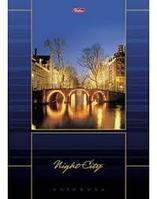 """Бизнес-блокнот """"Hatber"""", 160 листов, А4, клетка, твёрдый переплёт, выбор.лакировка, сер.Night City"""