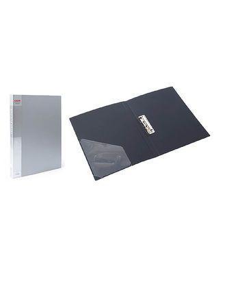 Папка пластик. Berlingo с метал. зажимом, корешок 21мм, серый металлик