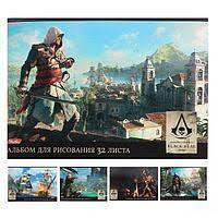 """Альбом для рисования """"Hatber"""", 32 листа, А4, на скрепке, серия """"Assassin\'s Creed"""""""