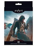 """Карандаши """"Hatber VK"""", 18 цветов, серия """"Assassin""""s Creed"""", в картонной упаковке"""