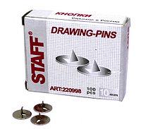 Кнопки 10 мм 100шт в пачке Staff.