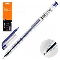 Ручка гелевая Tukzar 0,5 прозр корп синяя