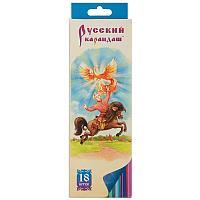 Карандаши цветные Русский карандаш Сказки, 18цв., заточен., картон, европодвес