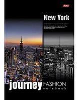 """Бизнес-блокнот """"Hatber"""", 160 листов, А4, клетка, 5 цветный блок, твёрдый переплёт, Journey New York"""
