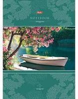 Бизнес-блокнот Hatber, 80 листов,А4,клетка, 5 цвет.блоков, лак, твёрдый переплёт, серия Красота тиши