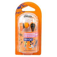 Наушники RITMIX RH-012 вставные оранжевые (вкладыши) вакуумные