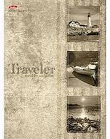 """Бизнес-блокнот """"Hatber"""", 160 листов, А4, клетка, 5 цв.блоков, твёрдый переплёт, серия """"Traveler"""""""